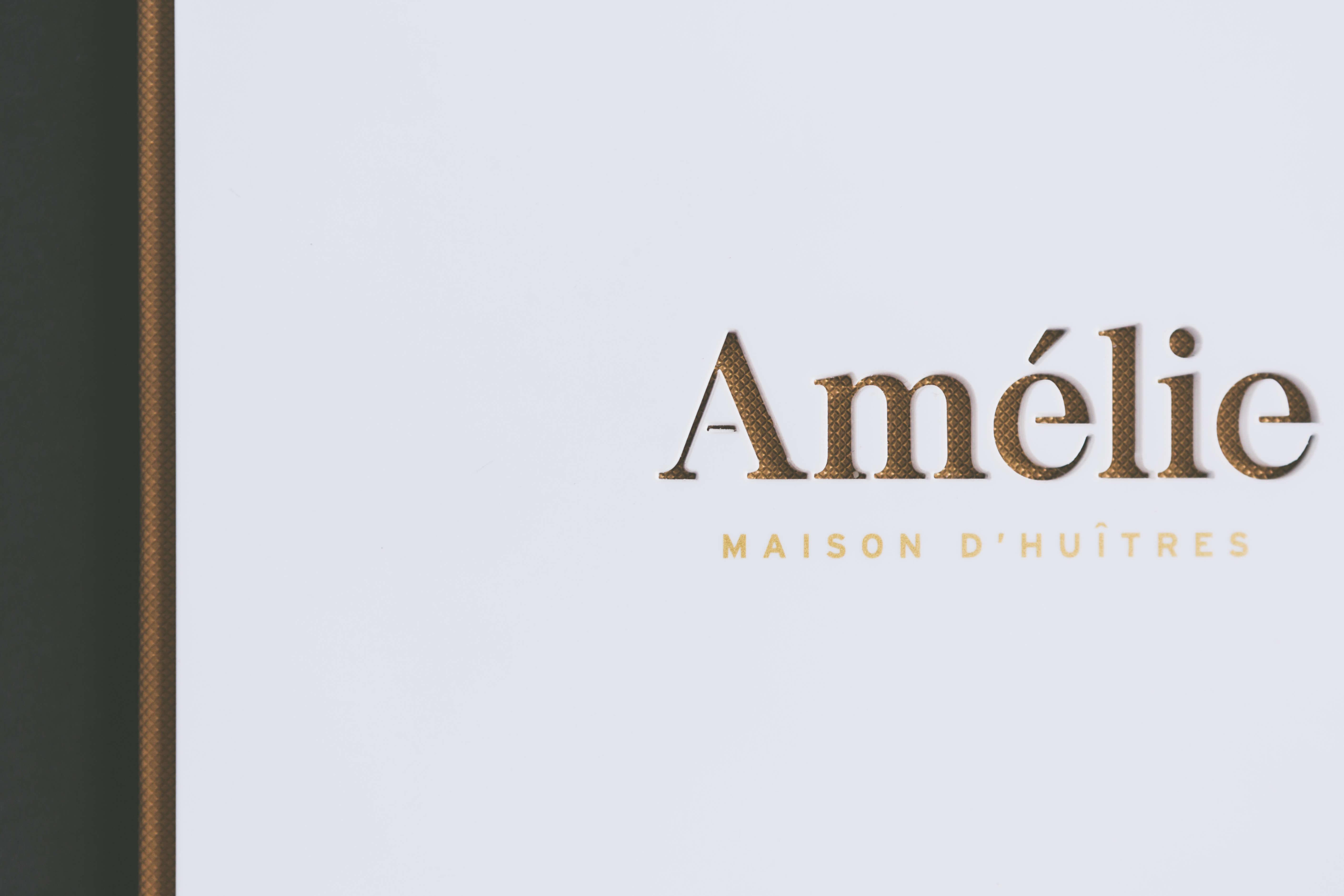 Logo hecho con láser para la carta Amelie